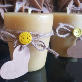 Large Size Votive Candle. Created by the bees. Burning time up to 28 h