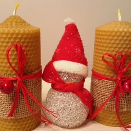 Berry HoneyComb Pillar Candle – 13 cm high