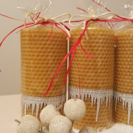 Icicles HoneyComb Pillar Candle – 13 cm high