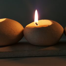 Tealight Candle set of 8 Pure Beeswax Candles. Burning time up to 3 hours