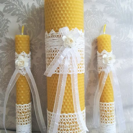 rustic wedding candle set unique