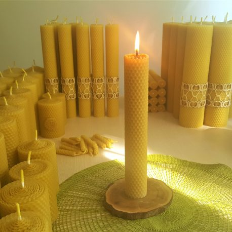 Honeycomb Taper beeswax candle