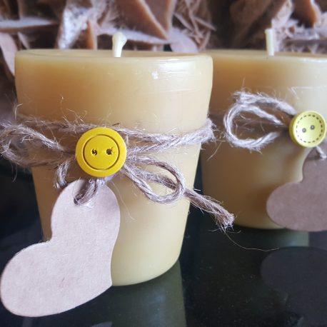 Beeswax candle - large votive