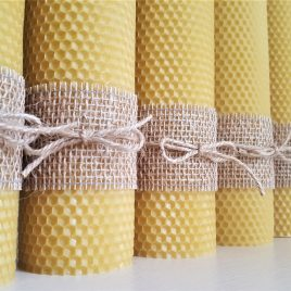 HoneyComb Pillar Candle – 26 cm high