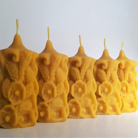 natural beeswax candle present