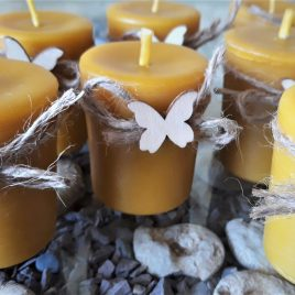 "Votive Candle to warm your day ""Butterfly"". Burning time up to 9 hours"