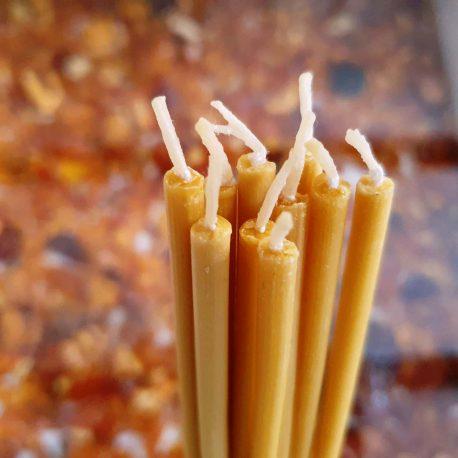 Natural Beeswax Tin Ritual Pencil Taper candles