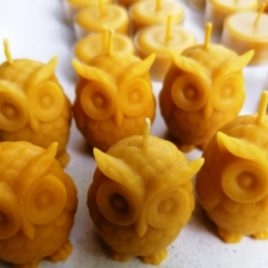 """Natural Beeswax """"Little Owl"""". Burning time up to 4 hours"""