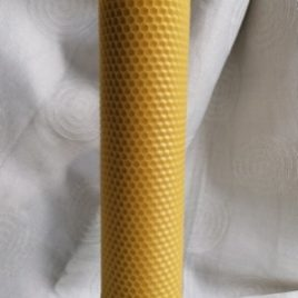 HoneyComb Pillar Candle. 26 cm high. Burning time up to 40 hours.