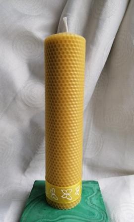 HoneyComb Pillar Candle beeswax natural