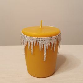Large Size Votive Candle.  Created by the bees. Burning time up to 28 h!