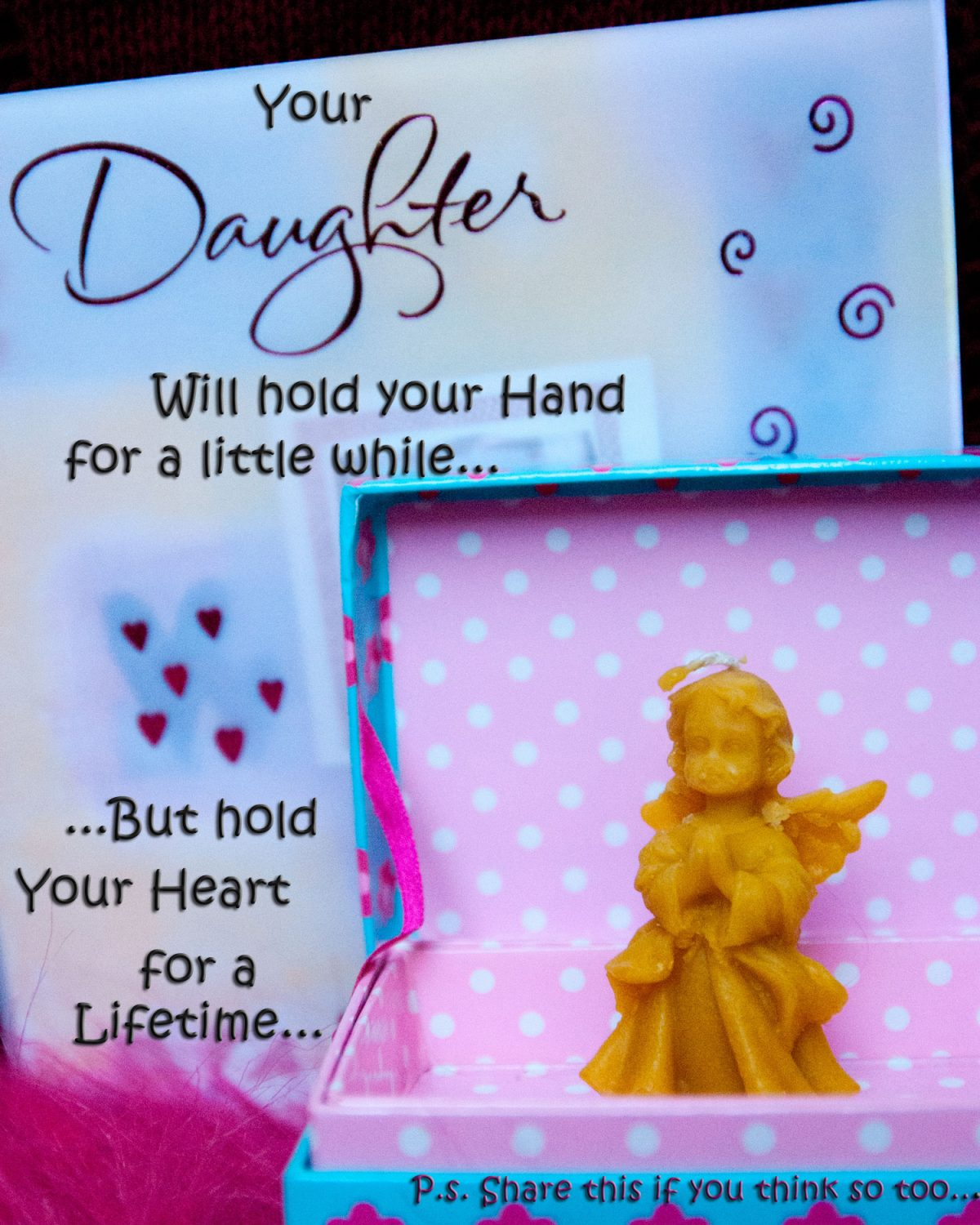 Quote about Daughter with the angel candle